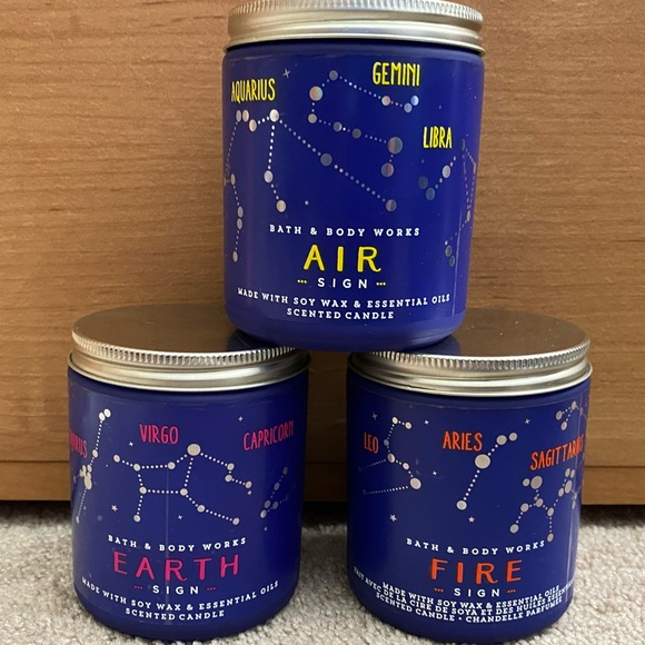 Bath & Body Works Air, Earth, Fire Sign candles